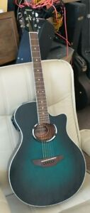 YAMAHA APX 500 Electro-Acoustic Guitar Oriental Blue/Green Burst STUNNING APX500
