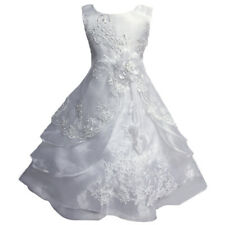 Flower Girl Princess Dress Embroidered & Beads Birthday Party Wedding Ball Gown