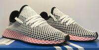 Adidas Womens Size 7 Deerupt Runner Black Pink White Running Sneakers CQ2909