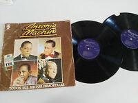 """ANTONIO MACHIN TODOS SUS EXITOS INMORTALES 2 X LP 12"""" VINILO VINYL G-/G- 1981"""