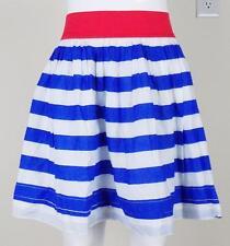MINI BODEN~Girls Sz 13-14Y~Red White & Blue~Lined~Elastic Waist~Striped Skirt
