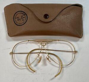 Vintage Ray Ban B&L Aviator/Shooting Bullet Hole Sunglasses Frames 1950's