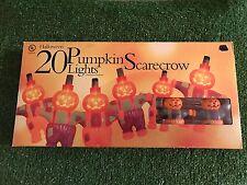 New Set Of 20 Halloween/Fall Pumpkin Scarecrow Blow Mold Novelty Lights