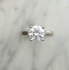 2.00 Ct VVS1/D Round Diamond Engagement Wedding Ring 925 Sterling Silver Rings