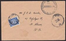NEW ZEALAND 1948 local Christchurch cover with 2d postage due...............1879