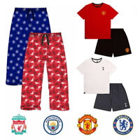 Mens Pyjamas, Pyjama Bottoms, Mens Pyjama Shorts Set Liverpool Manchester United