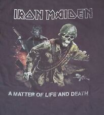 Iron Maiden Band Vintage T Shirt Matter Of Life And Death 2006 Tour. Pre-owned
