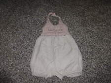 BABY GAP STELLA MCCARTNEY 3-6 LINEN CROCHETED ROMPER OUTFIT