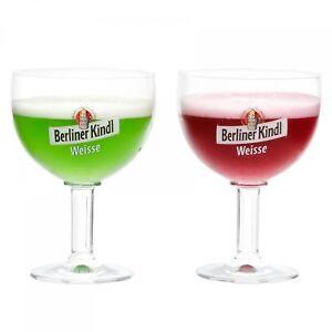 2er Set Ritzenhoff Berliner Kindl Weisse Pokal Gläser 0,3 Liter geeicht Bierglas