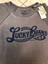 Lucky BRAND Mens Size 2xlt Tall Gray Venice Burnout Graphic Tee Dungarees