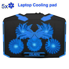 Gaming Laptop Cooling Pad Notebook Cooler Stand Holder with 5 Silent LED Fans