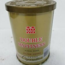 Vintage Chinese Double Happiness Cigarette Round  Tin empty