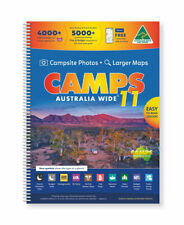 NEW Camps Australia Wide 11 B4 By Heatley & Michelle Gilmore Spiral Ringed Book