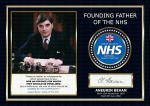 Aneurin Bevan - Father Of The NHS - ORIGINAL A4 Signed PHOTO PRINT MEMORABILIA