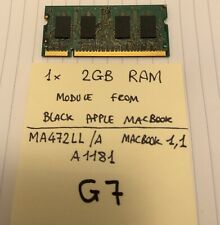 2GB DDR2 PC2-6400 800MHz 200-pin SODIMM RAM module for Apple Macbook 1,1 MA472LL