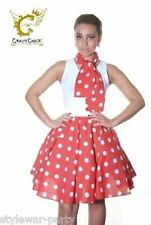 New Ladies ROCK & ROLL POLKA DOT SKIRT 50S & 60s LADIES FANCY DRESS Skirts
