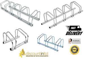 Bike Parking Cycle Bicycle Rack Floor Stand Wall Mount Holder Steel Pipe Storage