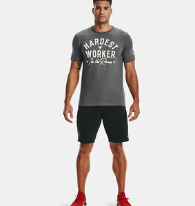 "Under Armour Mens UA Project Rock Hardest Worker T-Shirt Dwayne ""Rock"" Johnson"
