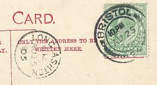 Somerset LONG ASHTON showing Almshouses used 1905 PPC mailed from fine postmark