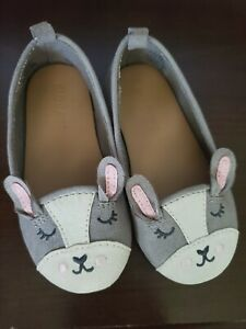 toddler sz 6 OLD NAVY bunny BOSTON FRENCHIE suede FLAT BALLET animal shoes girls