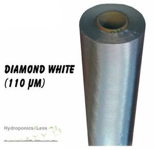 Silver DIAMOND Mylar reflective sheeting film roll hydroponics grow 2 to 100m