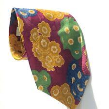 "Vintage Hugo Boss 100% Silk Necktie Floral Print 57.5"""