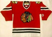 Chicago Blackhawks Youth L/XL KOHO Red Blank Air-Knit Jersey Stitched