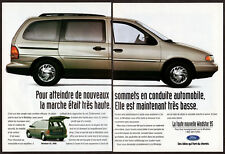 1995 FORD Windstar GL Vintage Original 2 page Print AD Gray minivan photo Canada