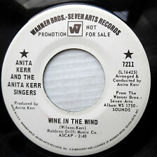 ANITA KERR & singers VG++ WHITE LABEL PROMO 45 WINE IN THE WIND  HAPPINESS dm630