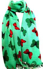 Châles/écharpe verte pour femme