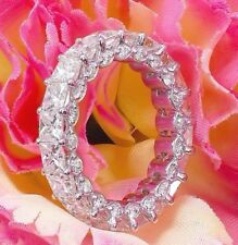 Wide 4.00ctw Eternity Band, Wedding Band, Ring, Man Made Diamond Simulated