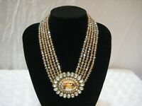 "HEIDI DAUS ""Dazzling Delight"" (Crystal Golden Shadow) Necklace (Orig.$139.95)"