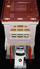 1987 Kenner The Real Ghostbusters Firehouse + 1996 Trendmasters Ecto-1 Vehicle