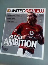 United Review Matchday programme VS Stoccarda-FORLAN 09/12/03 CHAMPIONS LEAGUE