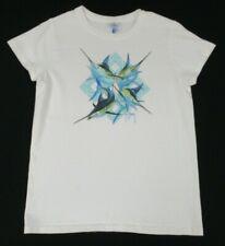 Guy Harvey Pez Espada Triángulo Tropical Pesca Blanco Pequeño Mujer Camiseta