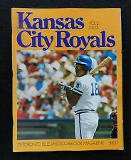 1978 TORONTO BLUE JAYS VS  KANSAS CITY ROYALS SCOREBOOK PROGRAM