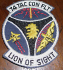 vintage 74TH TACTICAL CONTROL FLIGHT~LION OF SIGHT~PATCH military USAF vietnam