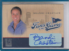 """2004 Donruss Brandi Chastain Fans Of The Game """"Usa Soccer"""" Auto Autograph"""