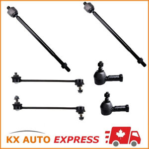 6Pc Front Inner Outter Tie Rod End Sway Bar Link For Ford Focus