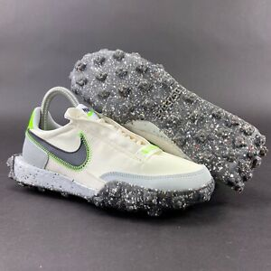 Nike Women's Waffle Racer Crater Pale Ivory Black Shoes CT1983-102 Size 6.5