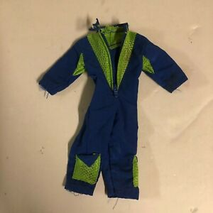 "1/6 Scale Blue Neon Green Jump Suit Full Zip for 12"" Action Figure"