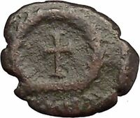 THEODOSIUS II 425AD  Ancient Roman Coin Cross within wreath of success  i32896