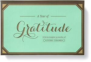 A Year of Gratitude Kit by Compendium: Kit to Inspire 52 Weeks of Giving Thanks