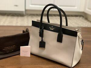 Kate Spade New York Cameron Large Handbag Purse Black Tan RN 0102760 CA 57710