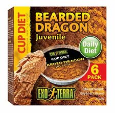 Nourriture Jeune Reptile (agames barbus ) Cup Diet  Exo Terra pack 6 Piéces