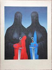 Lithographie lithograph de Felix LABISSE signée EA Les Maltaises *