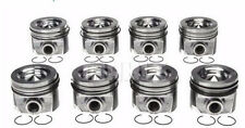 Ford 6.4/6.4L Powerstroke Diesel MAHLE Pistons (8)+Ring Kit 2008-10 +.50mm/+.020