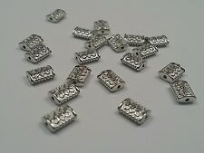20 Tibetan Silver Beads, Silver, Plated, 5.5x3mm, Hole 1mm