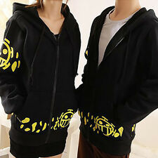 Anime One Piece Trafalgar Law Hoodie Hooded Sweatshirt Cosplay Costume Jacket