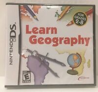 Learn Geography Grades 2 to 8 Nintendo DS Lite DSi XL 3DS 2DS NEW SEALED!